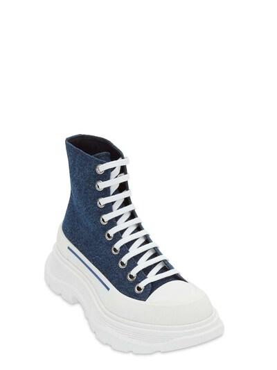 Кожаные Ботинки-комбат 45mm Alexander McQueen 73IG14023-NDE3Nw2 - 2