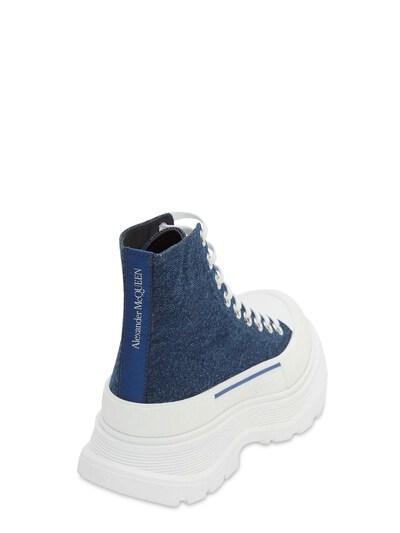 Кожаные Ботинки-комбат 45mm Alexander McQueen 73IG14023-NDE3Nw2 - 3