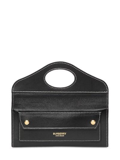 """Кожаная Сумка """"mini Pocket"""" Burberry 73ID1H021-QTExODk1 - 1"""