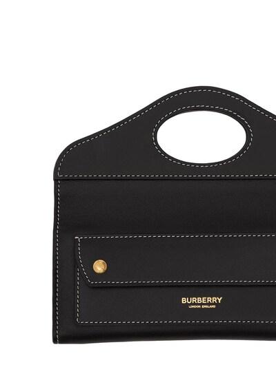 """Кожаная Сумка """"mini Pocket"""" Burberry 73ID1H021-QTExODk1 - 4"""