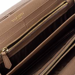 Valentino Beige Leather Flap Continental Wallet 360770