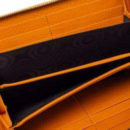 Gucci Orange Leather Soho Zip Around Wallet 360783