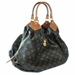 Louis Vuitton Brown Monogram Canvas Limited Edition Alligator Trim Bag 335008
