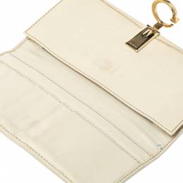 Gucci Brown GG Canvas and Leather G Continental Wallet 360777