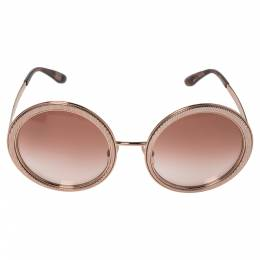 Dolce&Gabbana Rose Gold/Pink Gradient DG 2179 Round Sunglasses 360437