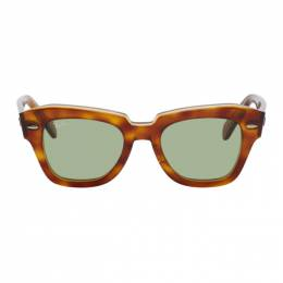 Ray Ban Brown and Green State Street Sunglasses 0RB2186