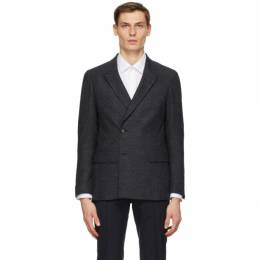 Z Zegna Grey Wool Double-Breasted Blazer 850702 1DUSG0