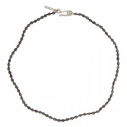 Sophie Buhai Black Tiny Pearl Collar Necklace R21-N06-SS-BL