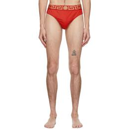 Versace Underwear Red Medusa Swim Briefs ABU01025 A232185