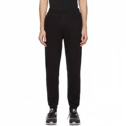 Sunspel Black Loopback Lounge Pants MTRS1518