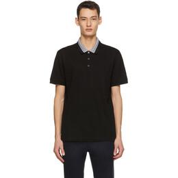 Salvatore Ferragamo Black Gancini Collar Polo 121835 716909