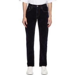 GCDS Navy Velvet Jeans FW21M030021