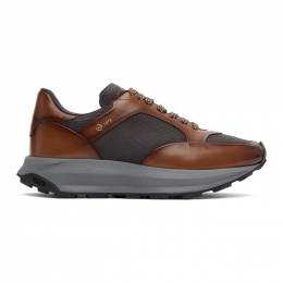 Dunhill Brown and Grey Aerial Patina Sneakers DU21R1332D5