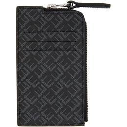 Dunhill Black Signature Zip Wallet DU21R210ZLT