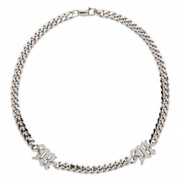 Misbhv Silver Curb Link Choker Necklace 120A160