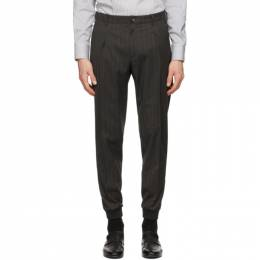 Z Zegna Grey Wool Striped Trousers 844726 6300GI