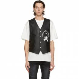 Stolen Girlfriends Club Black Leather Scorpion Rising Vest C4-20506
