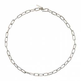 Sophie Buhai Silver Small Rectangular Chain Necklace SS-N07-SS