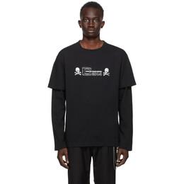 Mastermind Japan Black C2H4 Edition Double Layer T-Shirt MMJ20-011