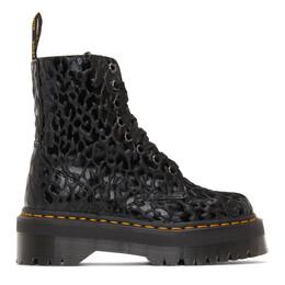 Dr. Martens Black X-Girl Edition Leopard Jadon Boots 26519001