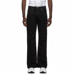 Misbhv Black Monogram Flared Jeans 120M227