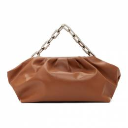 Marques Almeida SSENSE Exclusive Brown Pleated Clutch Bag RM01AC0153LTH