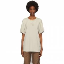 Fear Of God Beige Felted FG T-Shirt FG50-025