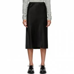 Joseph Black Silk Isaak Skirt JF004013