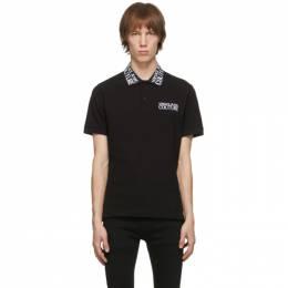Versace Jeans Couture Black Logo Polo EB3GZB7T1E36571