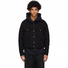 Fear Of God Black Terry Relaxed Trucker Jacket FG30-033