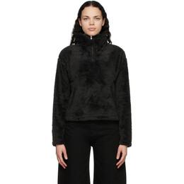 The North Face Black Furry Fleece Half-Zip Sweater NF0A4R44