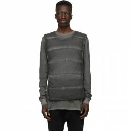 11 By Boris Bidjan Saberi Grey Panelled Vest 203-BIB1BP-F1426