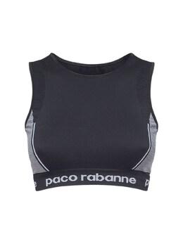 Укороченный Топ Из Джерси Paco Rabanne 73IMDQ060-TTAwMg2