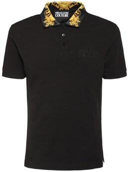 Рубашка-поло С Принтом На Воротнике Versace Jeans Couture 73IBQN003-SzQy0