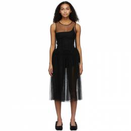Molly Goddard Black Ally Dress MGPRE21-18
