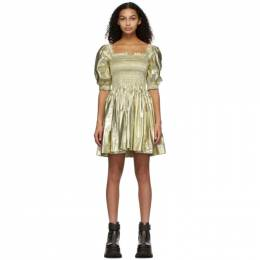 Molly Goddard Gold Hayley Dress MGPRE21-08