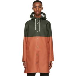 Stutterheim Green and Orange Stockholm Raincoat 2367