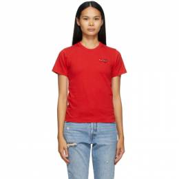 Comme Des Garcons Play Red Double Heart T-Shirt T225