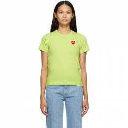 Comme Des Garcons Play Green Heart Patch T-Shirt T271