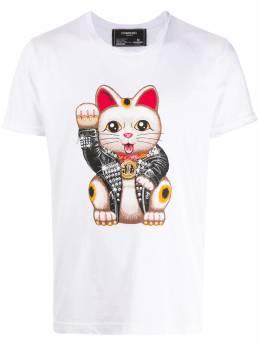 Domrebel футболка Lucky с принтом LUCKYTSHIRTWHITE160274