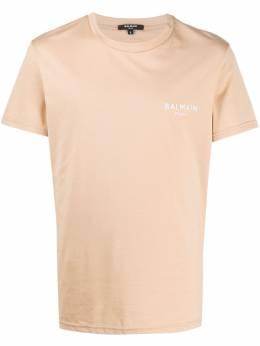 Balmain футболка с вышитым логотипом BRM305060