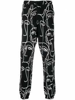 Marcelo Burlon County Of Milan спортивные брюки с принтом Faces CMCH024E20FLE0011001