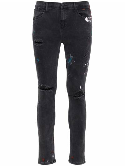 Pollock 1990 Print Destroyed Denim Jeans The People Vs 73IX94008-UE9MTE9DSyBCTEFDSw2 - 1