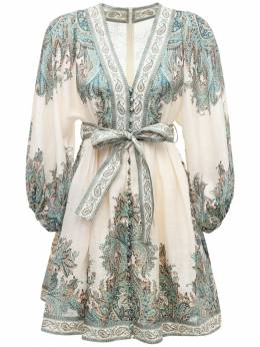 Платье Мини Из Льна Zimmermann 73IRSQ069-VFVSUVVPSVNFIFBBSVNM0