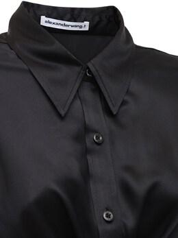 Рубашка Из Шелкового Атласа Alexander Wang 73I5BR002-MDAx0