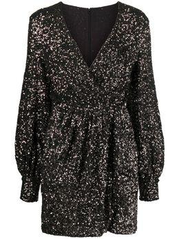 Amen приталенное платье с пайетками AMW20430