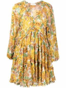 Zimmermann расклешенное платье с цветочным принтом 9977DPOP