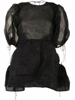Cecilie Bahnsen жаккардовая блузка с пышными рукавами AW200058