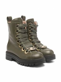 Elisabetta Franchi La Mia Bambina ботинки на шнуровке 66773