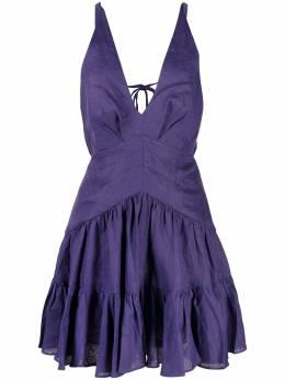 Zimmermann расклешенное платье с V-образным вырезом 9945DAND